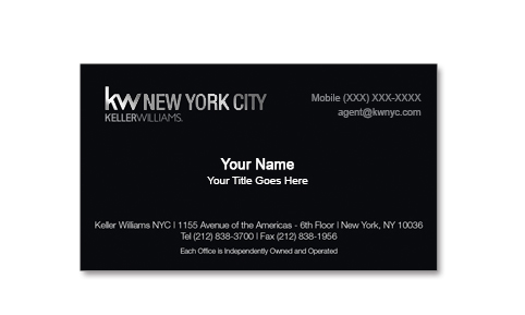 keller-williams-black-business-card-no-photo-foil-Front