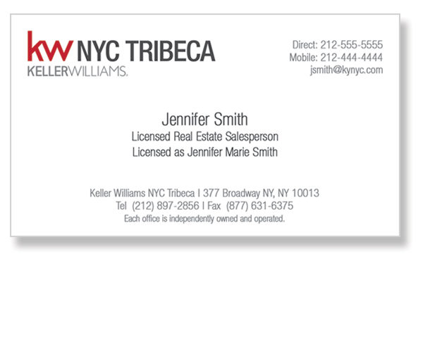 keller-williams-tribeca-office-white-business-cards-front