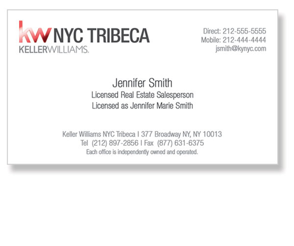 keller-williams-tribeca-office-white-foil-business-cards-front