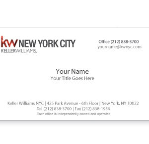 keller-williams-white-foil-business-card-no-photo-front